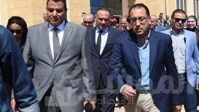 """صورة """" رئيس الوزراء """" يتفقد محور المستشار عدلي منصور على النيل ببنى سويف استعداداً للافتتاح الرسمى"""