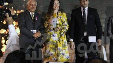 """صورة """" جهينه """" تحصل على قلادة المرأة المصرية تقديراً لجهودها في دعم وتمكين المرأة"""