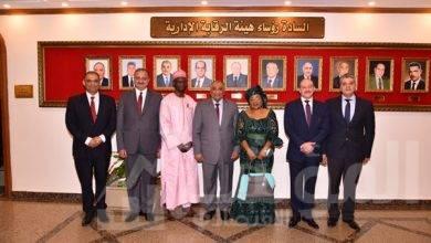 صورة رئيس الرقابة الإدارية يلتقى الوزير المفوضة للرقابة العليا بدولة الكاميرون