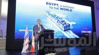 صورة الرئيس التنفيذي لمجموعة CMA CGM  الخط الملاحي الفرنسي في زيارة لمصر