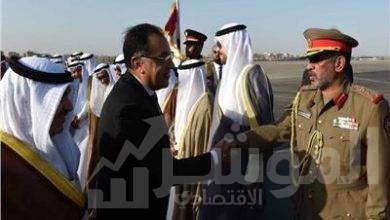"""صورة """" رئيس الوزراء """" يستقبل نظيره الكويتى بمطار القاهرة"""