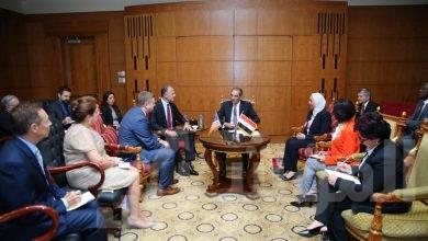 """صورة """" طلعت """"   يلتقي بأعضاء مجلس الأعمال المصري الأمريكي  وأعضاء الغرفة التجارية الأمريكية"""