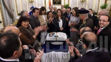 """صورة مجلس الوزراء يحتفل بـ""""غادة والى"""""""