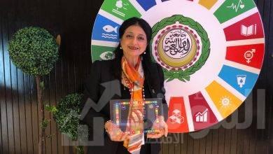"""صورة تكريم """" غادة حمودة """"  بجائزة  شبكة المسئولية الاجتماعية في مصر والعالم العربي"""""""