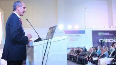 """صورة """" طلعت """" يفتتح فعاليات المؤتمر الوطني الأول للأمن السيبران"""