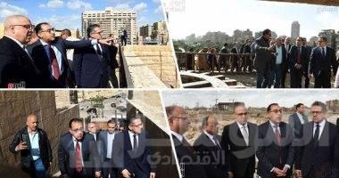 صورة رئيس الوزراء يتفقد أعمال تطوير سور مجرى العيون وعين الصيرة
