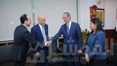 """صورة """" وزير الاتصالات """" يلتقي رئيس شركة """" أڤايا """"العالمية"""