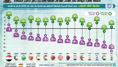 صورة بالإنفو جراف… الاقتصاد المصري سيواصل تصدر معدلات النمو في المنطقة بفضل نجاح برنامج الإصلاح الاقتصادي