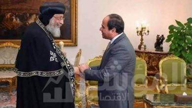 صورة الرئيس عبد الفتاح السيسي يرسل برقية تهنئة إلى قداسة البابا تواضروس الثاني