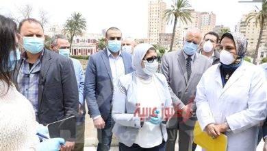 صورة وزيرة الصحة: توجه بسرعة الإنتهاء من تطوير مبنيين داخل المستشفى بسعة 170 سريرا