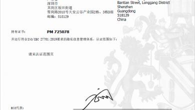 صورة هواويتحصل على شهادةISO/IEC 27701لحماية الخصوصية من المعهد البريطاني للمعايير عن واجهة المستخدمEMUI