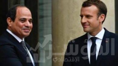 """صورة """" السيسي """" يتلقى اتصالاً هاتفياً من الرئيس الفرنسي إيمانويل ماكرون"""