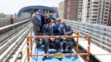صورة جولة تفقدية لرئيس الوزراء بالجزء الثاني من المرحلة الرابعة للخط الثالث لمترو الأنفاق