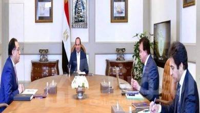 صورة السيسي يجتمع مع  رئيس مجلس الوزراء و وزير التعليم العالي والبحث العلمي