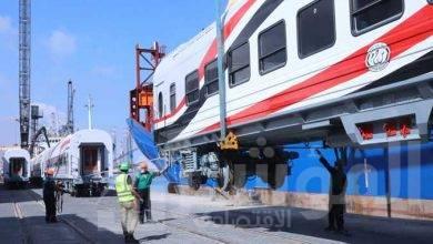 صورة وصول الدفعة الأولى من عربات السكة الحديد جديدة للركاب ميناء الإسكندرية