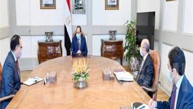 صورة السيسي يجتمع  رئيس مجلس الوزراء وزير العدل
