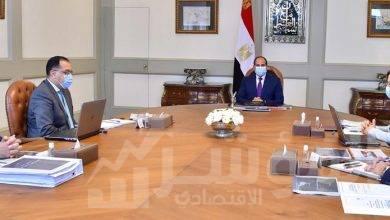 """صورة """" السيسي """" يجتمع رئيس مجلس الوزراء، ووزيرة التخطيط بحضور المدير التنفيذي لصندوق مصر السيادي"""