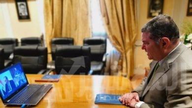 """صورة """" توفيق """" و """" طلعت """" يشهدان توقيع بروتوكول تعاون  لتنفيذ البنية التحتية للاتصالات بمشروع التحول الرقمي"""