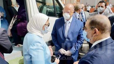 صورة وزيرة الصحة تتفقد سير العمل بالقوافل العلاجية ومركز طب الأسرة بحي الأسمرات