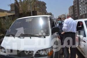 صورة 16 مخالفة بسبب الكمامة بالمحلة وسمنود