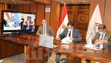 صورة إنهاء النزاعات التاريخية بين الحديد والصلب وبنك مصر  برعاية الشركة القابضة للصناعات المعدنية