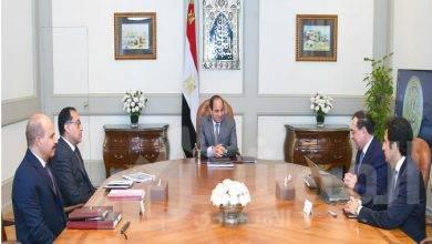 """صورة """" السيسي """" يستعرض خطط وجهود وزارة البترول في تطوير مختلف القطاعات"""