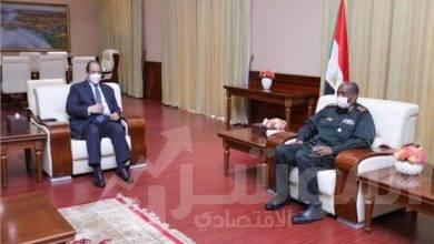 صورة رئيس مجلس السيادة السودانى يستقبل رئيس المخابرات العامة المصرية