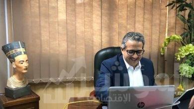 """صورة """"عنانى"""" يجتمع مع رؤساء بعثات الدول الاسكندنافية الاربعة المعتمدين في القاهرة"""
