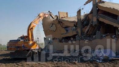 صورة محافظة الجيزة .. ازاله ٢٦ حاله بناء مخالف بالمراكز