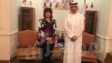 صورة سفير البحرين بالقاهرة يستقبل وفد المستثمرات العرب