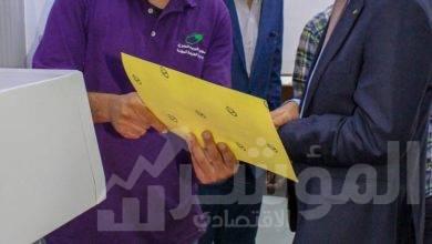 """صورة """"فاروق"""" يتفقد مركز بطاقات الدفع الالكتروني ومطابع البريد"""
