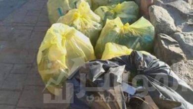 صورة حملة نظافة كبيرة بمدينة دهب