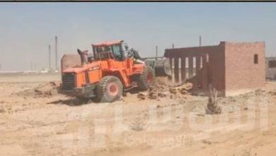 صورة محافظ الجيزة : إزالة ٥٤ حالة تعديات علي أراضي أملاك الدولة واراضي زراعية ومخالفات بناء