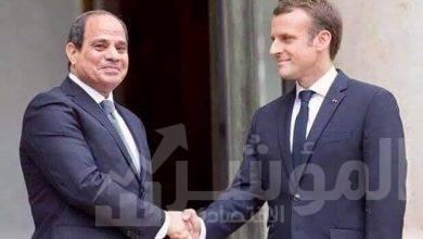 """صورة السيسي يبحث هاتفياً مع الرئيس الفرنسي تطورات الوضع في ليبيا"""""""