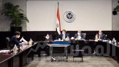 """صورة """"عبد الوهاب """" يستقبل رئيس مجلس الأعمال المصري الياباني وممثلي كبرى المؤسسات اليابانية في مصر"""