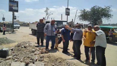 صورة رئيس مدينة المحلة يتابع أعمال تطوير كورنيش بحر شبين