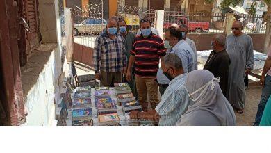 صورة انطلاق النسخة الخامسة من معرض كتاب القرية في النخيلة بأسيوط