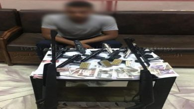 صورة ضبط صاحب محل صيد بحوزته أسلحة وذخائر غير مرخصة بالبحيرة