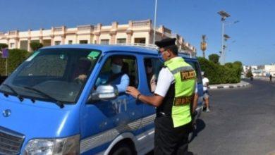 صورة ضبط 1415 سائق نقل جماعي لعدم ارتداء الكمامة