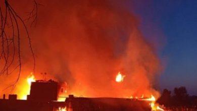 صورة حريق يلتهم 5 منازل بسبب انفجار أسطوانة غاز في سوهاج