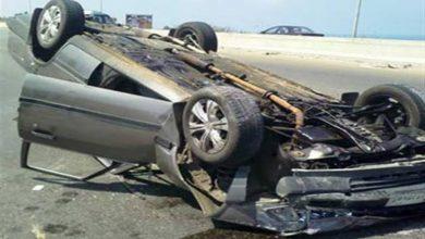 صورة إصابة 5 أشخاص في حادث تصادم  بسوهاج
