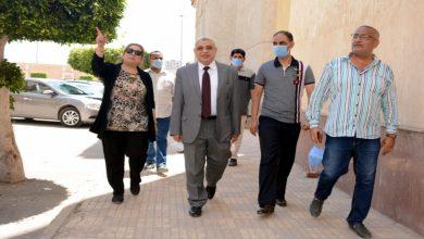 صورة نائب رئيس جامعة طنطا يتفقد اختبارات القدرات بكلية التربية الرياضية