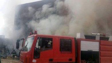 صورة 5 سيارات إطفاء تسيطر على حريق بمكتب صرافة في منطقة المهندسين