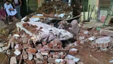 صورة شاهد عيان يوضح تفاصيل سقوط عقار بالمنوفية بعد انفجار أنبوبة
