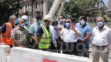 """صورة """"وزير النقل"""" يتابع أعمال التدعيم الإنشائي للركن المتضرر بعمارة الشربتلي بالزمالك"""