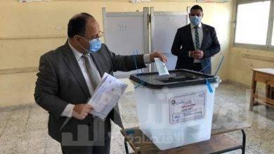 """صورة """"وزير المالية"""" يدلى بصوته فى انتخابات مجلس الشيوخ"""