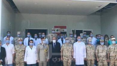 """صورة """"شكرى"""" يتفقد المستشفى الميداني المصري في بيروت"""