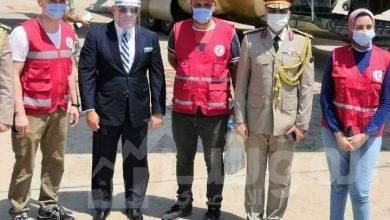 صورة كوادر طبية مصرية تصل مقر المركز الطبي لجامعة بيروت لتقديم الدعم للشعب اللبناني الشقيق