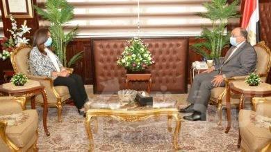 """صورة """"شعراوى"""" يتابع مع محافظ دمياط المشروعات الجارية علي أرض المحافظة"""