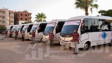 صورة بدء تشغيل منظومة النقل الجماعي الداخلي بمدينة بدر